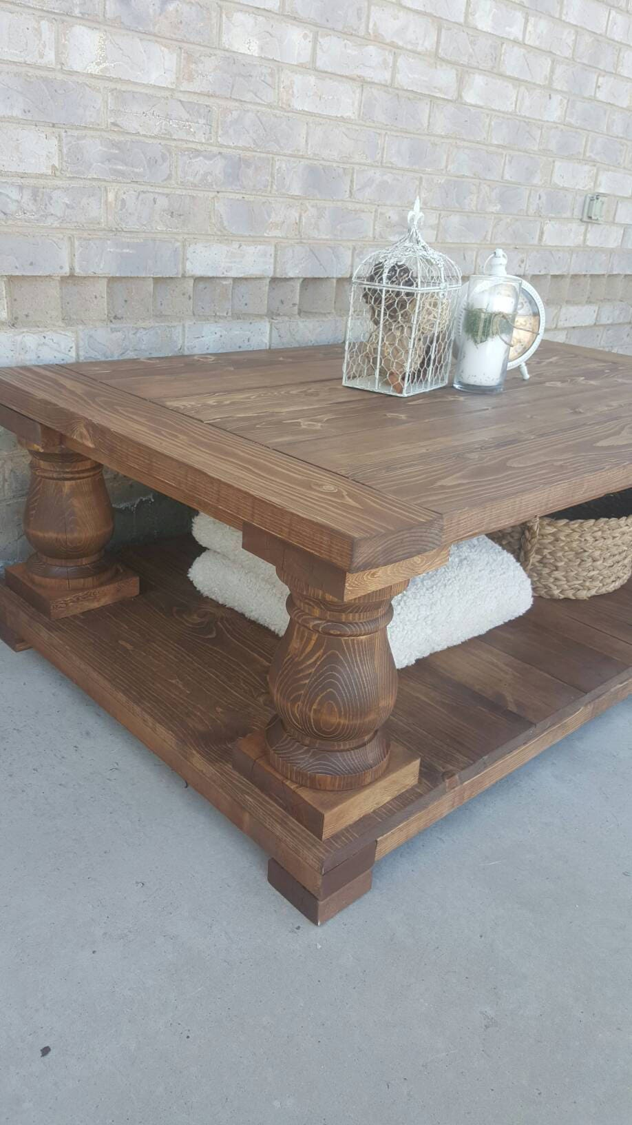 Local Pickup Only Long Balustrade Coffee Table Coffee Table