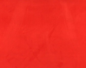 Red Microsuede Upholstery Grade Fabric By The Yard | Pattern # C084