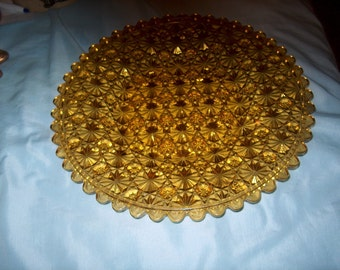Antique Vintage Amber Plate, Daisey & Button, WAS, 25.00 - 50% = 12.50