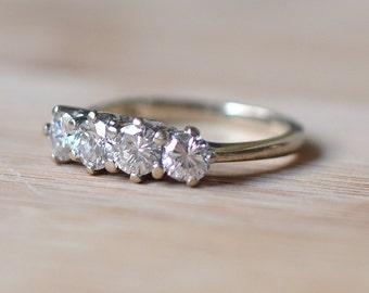 Diamond Engagement Ring - Vintage Engagement Ring - Vintage Round Diamond Ring - 1930s Engagement Ring - Round Diamond Ring