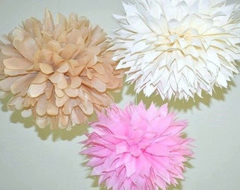 Pink Rustic Baby Shower Decorations, Pink and Ivory Bachelorette Decoration, It's A Girl Decoration Idea, Baby Girl Shower Decorations