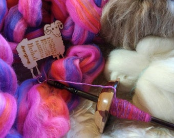 Learn to spin yarn on a drop spindle beginners kit