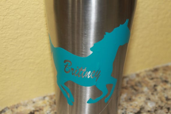 Horse decals, yeti tumbler decal, cup decals, tumbler decals, Decals, Ranch decals, horses decal, personalized decals, ozark decals,