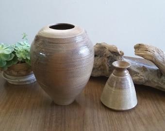 Mid century ceramic vase set