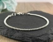 Stacking Bracelet Sterling Silver Bracelet thin sterling bracelet Dainty jewellery Skinny bracelet