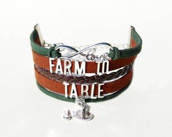 Farmer Bracelet | Farmer Jewelry | Farmer Gift| Farmers Market Jewelry | Farm To Table | Farm Stand Gifts | Fresh Food | Home Grown Produce