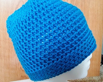 Simplicity Messy Bun Hat / Simplicity Ponytail Hat in Wild Blue