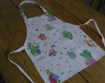 Vintage Beatrix Potter, Peter Rabbit Fabric Children's Apron