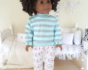 18 inch doll pajama pants