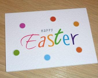 Happy Easter Card - happy & bright - boys girls family friends teachers school friends - handmade