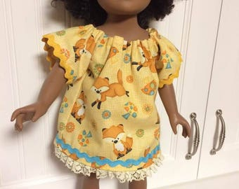Dress for doll can fit 18' doll like American Girl Doll