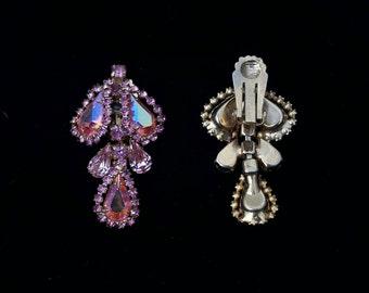 Vintage Czech Crystal Earrings