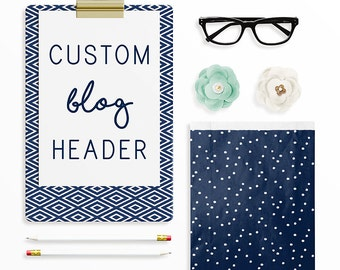 Custom Blog Header, Custom Blog Head, Squarespace, Blogger, Wordpress, Pro Photo Blog, Header Logo Design, Blog Logo Design