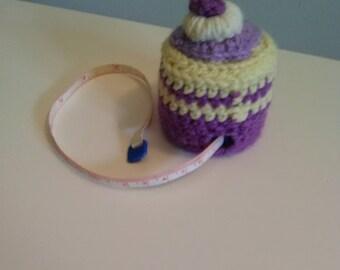 cake crocheted pincushion handmade