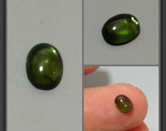 Verdelite cabochon 5.5x4.3x2.5mm