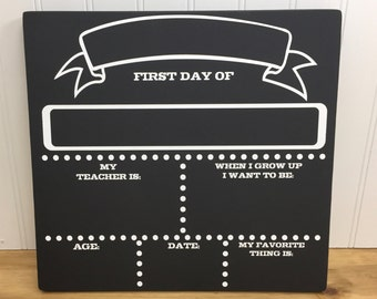 Personalized Handmade First Day of School Sign - First Day of School Chalkboard - Back to School Chalkboard - Back to School Sign