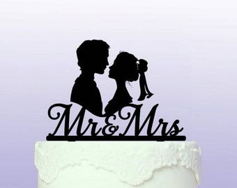 Personalised Wedding Cameo Cake Topper