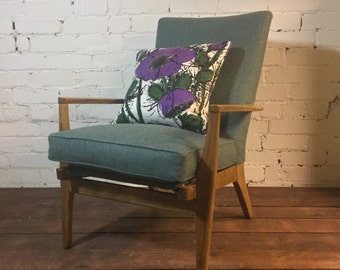 SOLD****Mid Century Modern Restored and Upholstered Parker Knoll Arm Chair