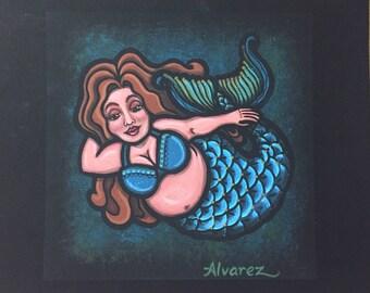 "8x10"" Giclee Print, ""Sirena Gordita"""