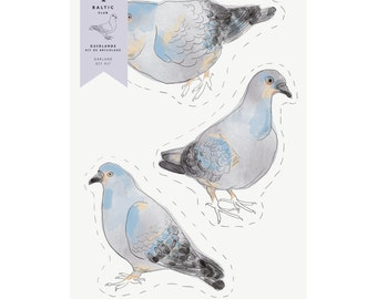 Garland Of Pigeons - Diy Kit