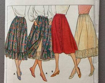 Vintage Butterick Sewing Pattern 4213// Skirt & Petticoat Pattern// Pattern Size 6-8-10//Quiltsy Destash Party
