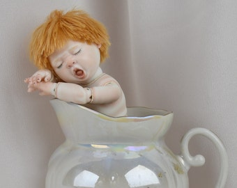 "Artist's signature edition #1 of 10 porcelain bjd Timmy (5.9 "")"