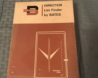 Vintage Bates phone directory