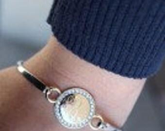 Monogrammed Bracelet, Engraved, Stackable Bracelet
