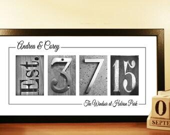 WEDDING DATE DECOR - unframed, Wedding Date Signage, Wedding Date Numbers, Personalized Wedding Gift Idea