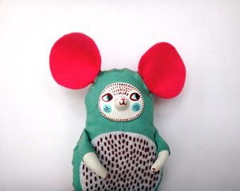 Tillie the Mouse, Handmade Plushie