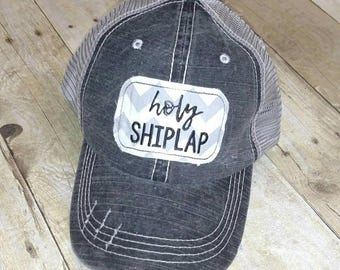 Holy Shiplap Distressed Trucker Hat