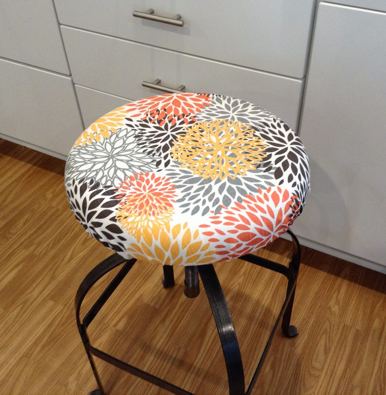 Elasticized Round Barstool Cover Seat Cover Counter Stool