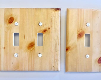 Natural Pine Wood Light Switch Plate Cover image 60 // SAME DAY SHIPPING**