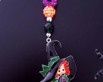 Cute Witch Scissor Fob