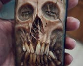 iPhone 7  phone case - Necronomicon, Mummified  case, protective case, hand sculpted, OOAK (one of a kind)