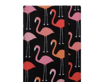 Kindle Paperwhite Cover, Kindle Paperwhite Case, Kindle Cover Hardcover, Kindle Case, Kindle Book, Pink Orange Flamingos Black