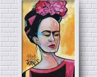 "Frida Kahlo Digital Art Print, Frida Kahlo Illustration, Frida print ,8"" x 12"" print, Gift for Frida Kahlo Fan, Frida Art Print"