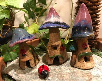 Ladybug Houses - set of three