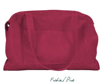 """Leather purse bag, pink leather, named """"Ode"""""""