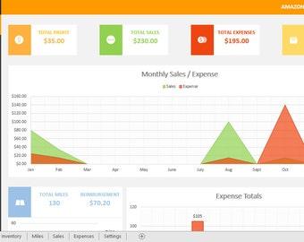 Amazon FBA Sellers Accounting Spreadsheet (Design 2)
