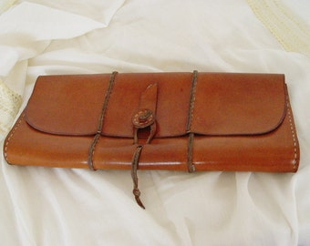Vintage Leather Clutch.