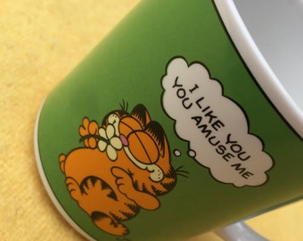 Vintage 1978 Garfield Coffee Mug Cup Jim Davis I Like You You Amuse Me