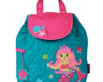 Personalized Mermaid Backpack-Personalized, Mermaid Diaper Bag, Baby Shower Gift, School Backpack