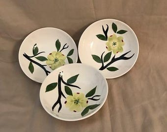 1950's Vintage Hand Painted Fruit Bowl