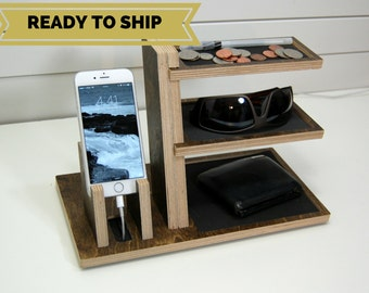 Charging Station Organizer - Single Phone and Valet