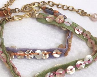 Crazy Cool Boho Chic Velvet Bracelets