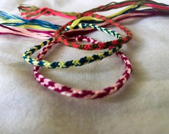 Skinny Striped Bracelets Summer Woven Boho Beach Jewelry