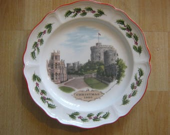 "Wedgwood ""Windsor Castle"" Christmas Plate 1980"