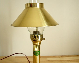 Brass Orient Express Train Table Lamp