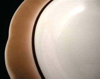 "c.1974 Restaurant Ware 9"" Bowls x 2 ~ Buffalo China ~ Airbrush Brown"